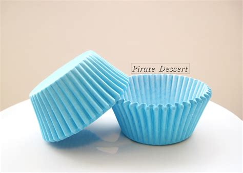 How To Make Cupcake Holders With Paper - cupcake liners malibu blue cupcake papers by piratedessert