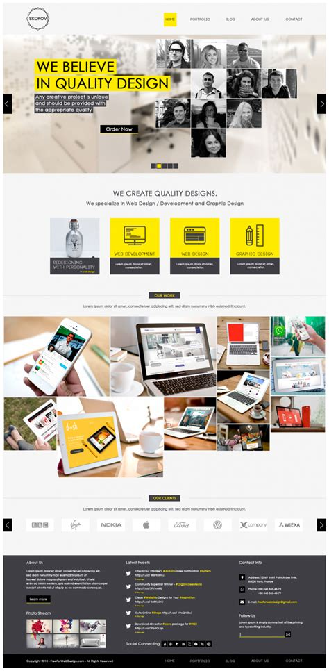 Web And Graphic Design Portfolio Website Template Psd Download Download Psd Sle Portfolio Websites Templates