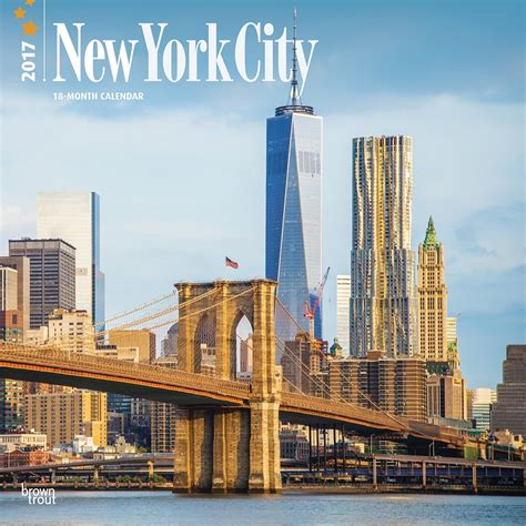 new york city 2017 new york city 2017 wall calendar 9781465054890 calendars com