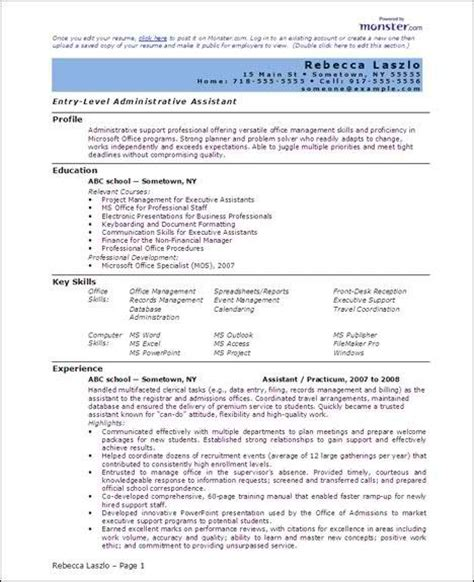 resume templates doc free 6 microsoft word doc professional resume and cv