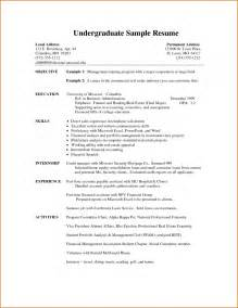 college application resume formats