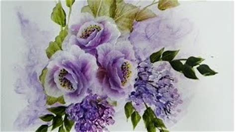 Primadonna Angela Pojok Lavender learn to paint a one stroke at a time