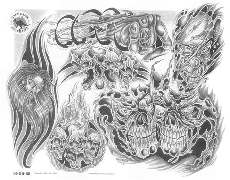 demon tribal tattoos tribal and flaming skull tattoos designs