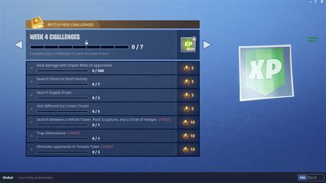 fortnite week 4 challenges season 3 week 4 challenges fortnite intel