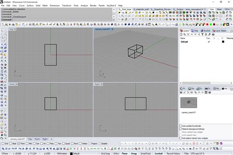 rhino layout zoom is it possible to place perspective photo in a viewport