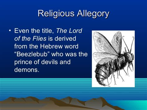 theme of religion in lord of the flies allegory in the lord of the flies