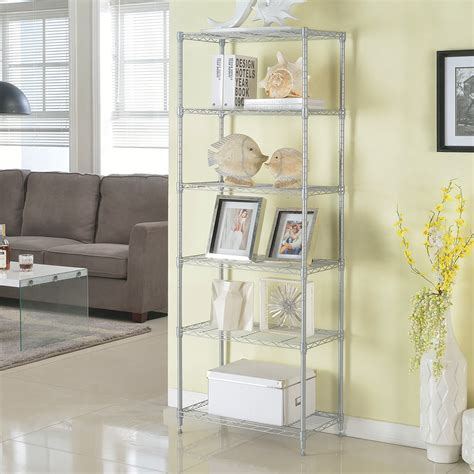 display shelving units for living room 6 tier rack storage kitchen living room display shelving organiser bookcase unit ebay