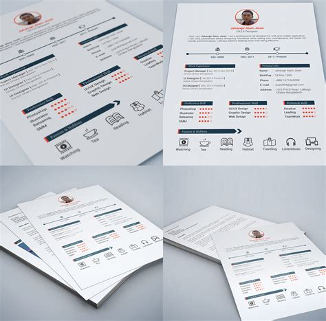 free graphic design resume template psd 25 best free resume cv templates psd psd
