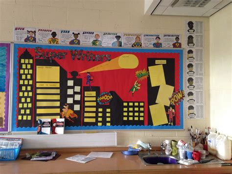 themes ks2 super writers display working wall classroom ideas