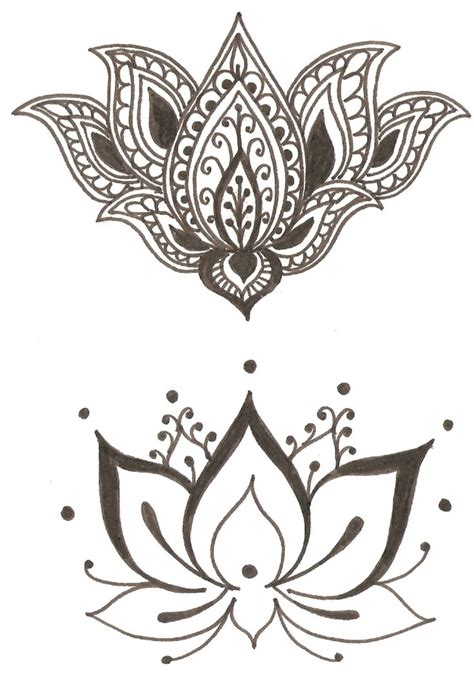 purity tattoo designs lotus flower symbol of spirituality femininity