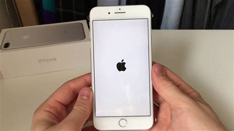 iphone 7 plus 128gb silver boot up