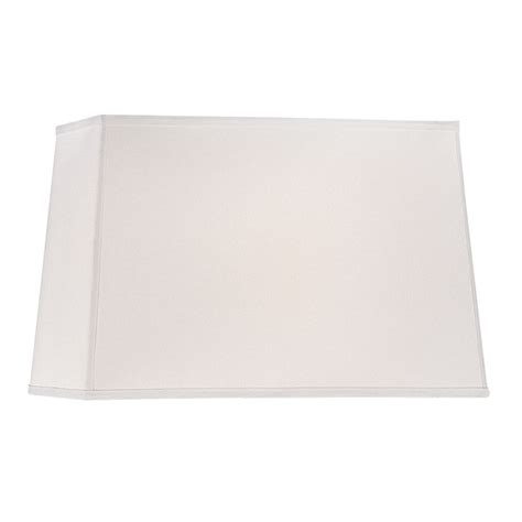 rectangle square white linen rectangle l shade with spider assembly dcl sh7284 pcw destination lighting