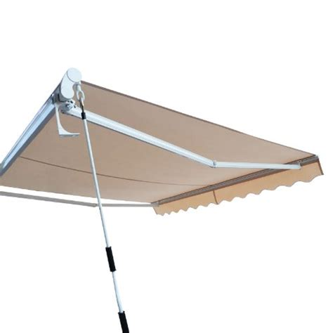 heavy duty awning outt 174 10 x 8 retractable patio awning sun shade canopy extra heavy duty beige awnings patio