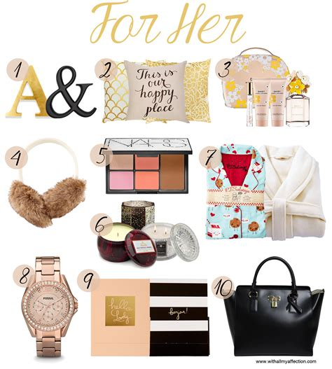 christmas gift ideas for her for him with all my affection