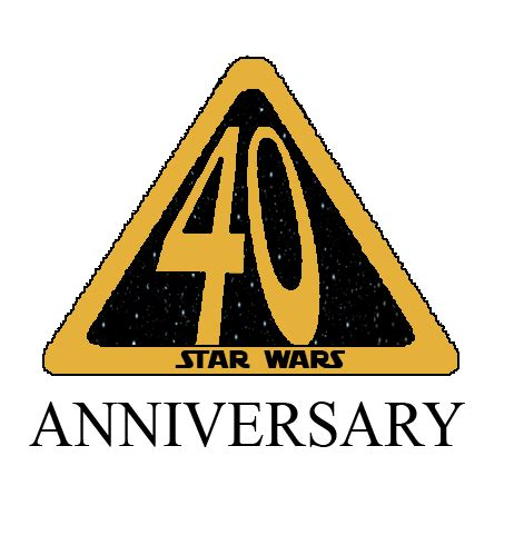 star wars anniversary star wars 40th anniversary logo fanmade by