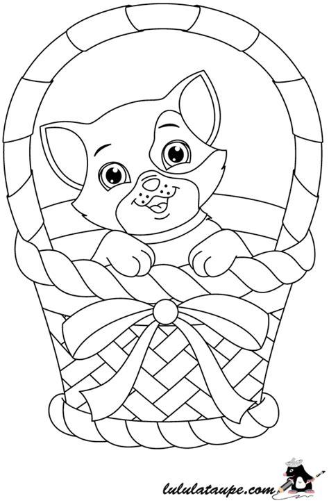 coloriage de chaton a imprimer az coloriage coloriage gratuit un chaton dans un panier lulu la