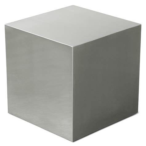 cube accent table gus modern stainless steel cube end table eurway