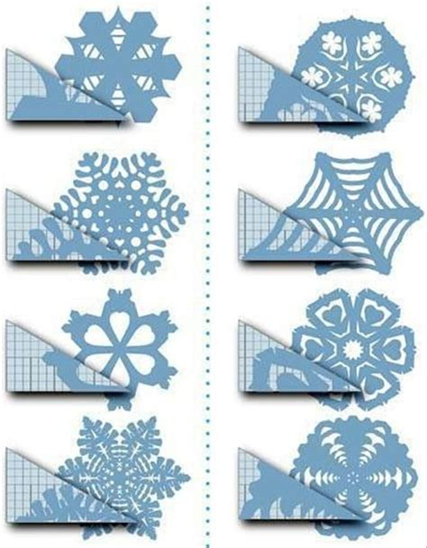 How To Make Really Cool Paper Snowflakes - cutout snowflake designs stuff