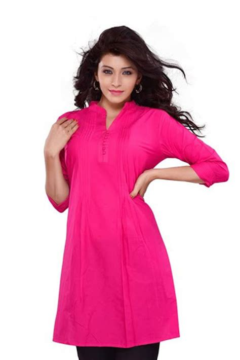 rani pink colour rani pink colour three quarter sleeves kurti in new area