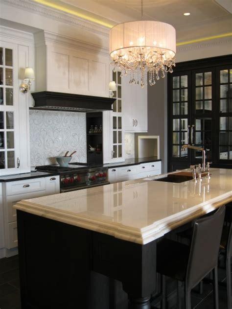 Black Chandelier Kitchen The Design District Airoom Gorgeous Black White Kitchen