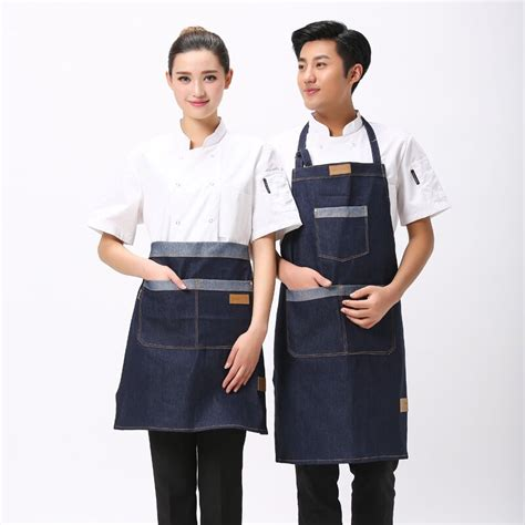 design your own cafe uniform aliexpress com buy hot simple antifouling kitchen denim