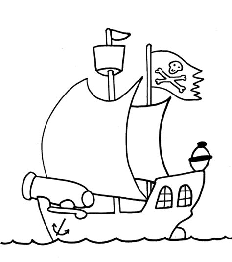 free on pirate ship coloring pages