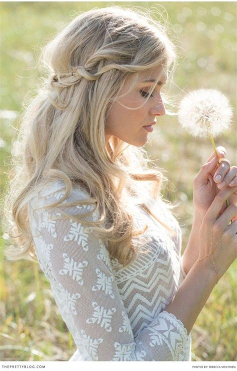 Vintage Rustic Wedding Hairstyles by Rustic Vintage Half Up Half Bridal Hairstyle Deer