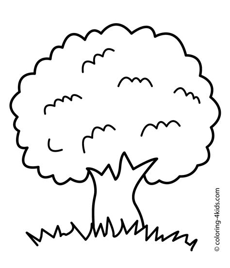 tree to color simple tree roots coloring coloring pages