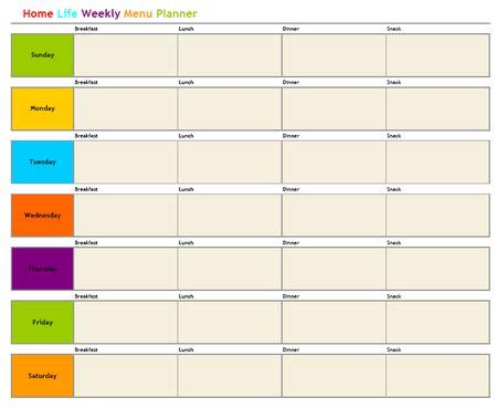 weekly menu planner dc design