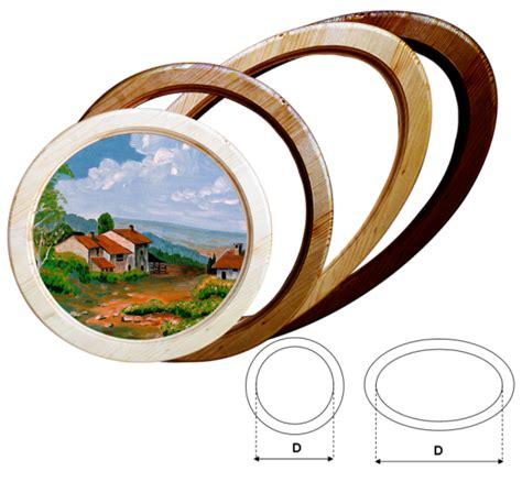 cornici ovali in legno cornici tonde e ovale in legno massello su misura