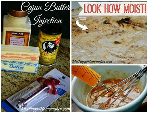 check out homemade cajun butter injection it s so easy to make homemade thanksgiving and powder