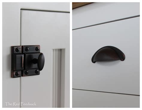 Kitchen Cabinet Door Latches | the red feedsack introducing my new kitchen