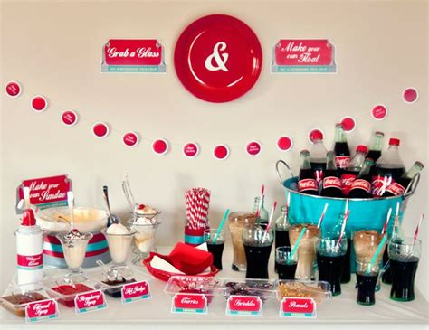 diner theme decorations retro diner soda float social