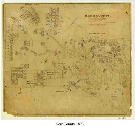 map of kerr county texas maps in history hill country archeological association