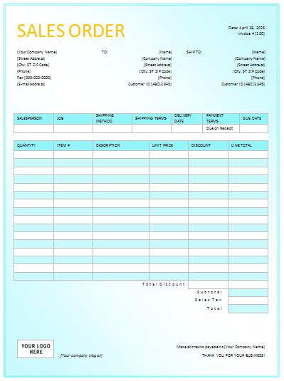 Sales Order Tracking Excel Template Document Templates Sales Order Templates For Excel