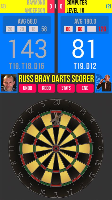 russ bray darts scorer amazoncouk appstore  android