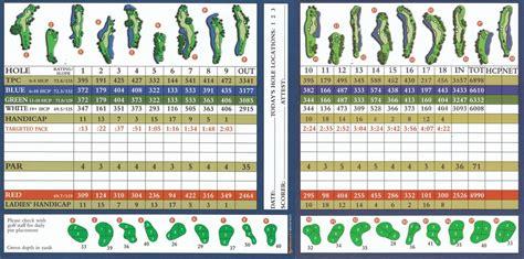 Organizr tpc of tampa bay actual scorecard course database