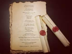 wedding invitations with wax st vintage wedding scroll invitation handmade with wax seal
