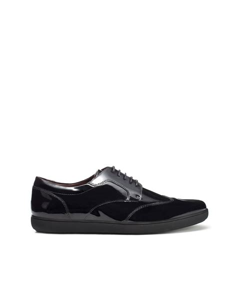 zara patent leather oxford shoe in black for lyst