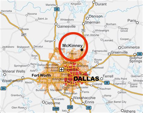 mckinney texas map image gallery mckinney map
