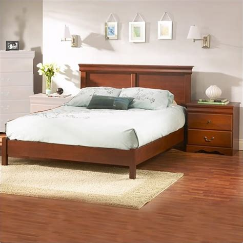 Cherry Wood Bed by South Shore Vintage Classic Cherry Wood Platform Bed