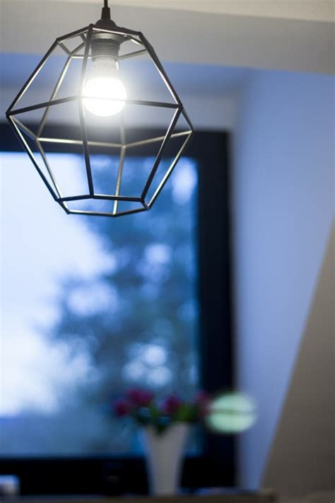 diy geometric pendant light diy geometric pendant light fixture of straws shelterness