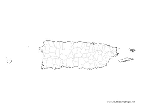 coloring page map of puerto rico puerto rico coloring page