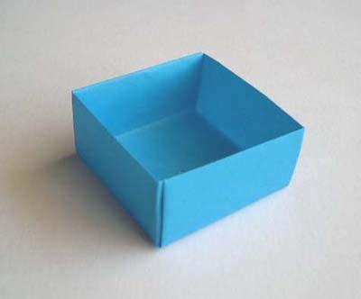 简单折纸小盒 折纸盒子教程 纸艺网
