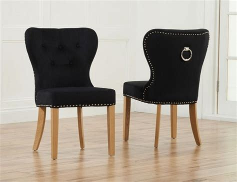 black upholstered dining room chairs sudbury black velvet upholstered dining chairs