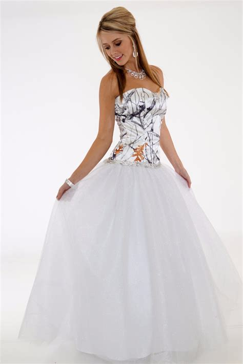 White Camo Wedding Dresses by Free Shipping 2016 New Style Strapless True Timber