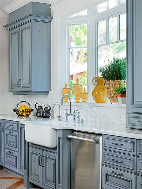 painted and glazed kitchen cabinets farmhouse sink ideas large cabinets and window