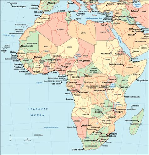 of africa map map of africa africa maps and geography