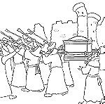 coloring page battle of jericho sunday school joshua bible coloring pages