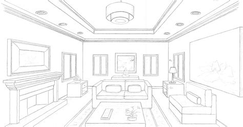 interior design perspective drawing